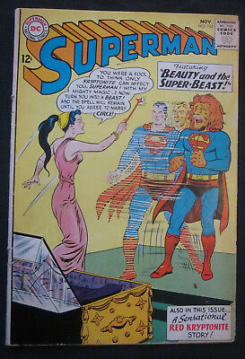 SUPERMAN #165 1963 1st Series DC Comics VG- 3.5 Silver Age CIRCE Red Kryptonite