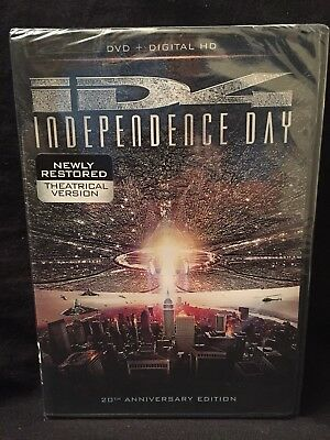 NEW ID4:Independence Day [Newly Restored 20th Anniversary Edn](DVD+Digital,2016)