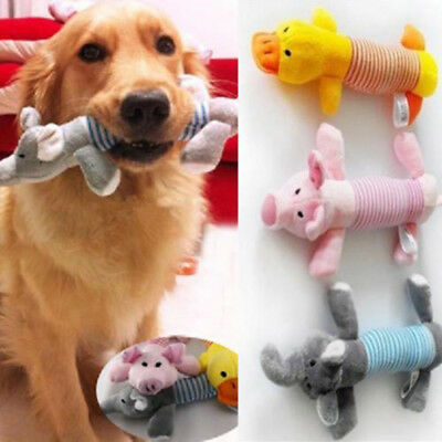 Pet Puppy Chew Squeaker Squeaky Plush Sound Pig Elephant Duck For Dog Toys DY