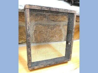 antique GRAIN SIFTER wood/wire AMISH/PA DUTCH FARM SIEVE kitchen/garden tool