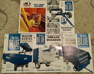 Ford Big Blue and Papec brochures, lot of 5