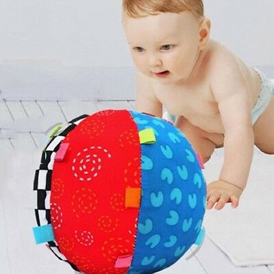 Baby Hand Grasp Soft Bell Cloth Ball Toys Infant Educational Kids Colorful Hot
