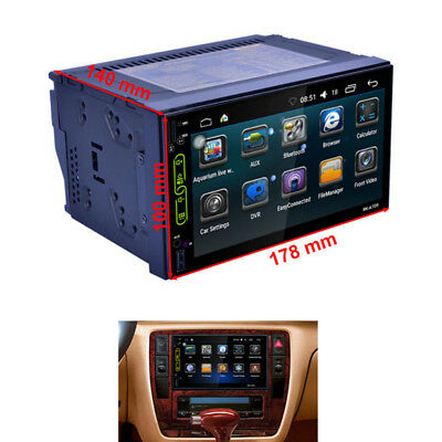 2Din Android 6.0 system GPS Navigation MP5 Player Built-in WIFI  Bluetooth RDS