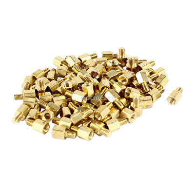 88 Pcs PC PCB Motherboard Brass Standoff Hexagonal Spacer M3 5mm+4mm 10 mm x 5mm