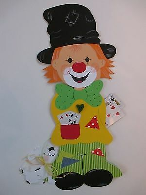 Fensterbild*Tonkarton*Clown Leo u. Findus L* Fasching*Deko*Kinder