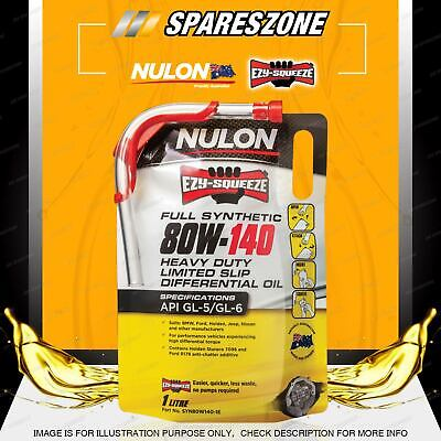 FORD Holden Nulon Full Synthetic 80W-140 HD Limited Slip Differential Oil 2.5L
