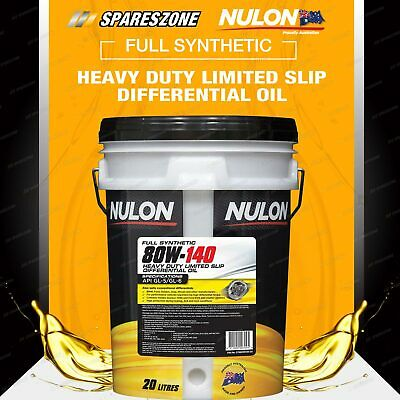 FORD Holden Nulon Full Synthetic 80W-140 HD Limited Slip Differential Oil 20L