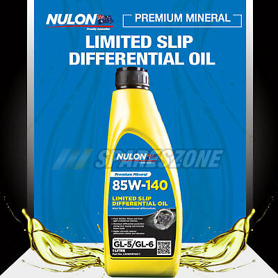 HOLDEN ISUZU FORD IVECO NISSAN Nulon 85W-140 Limited Slip Differential Oil 1L