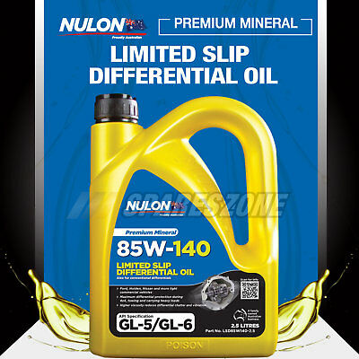 HOLDEN ISUZU FORD IVECO NISSAN Nulon 85W-140 Limited Slip Differential Oil 2.5L