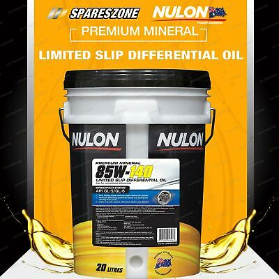 HOLDEN ISUZU FORD IVECO NISSAN Nulon 85W-140 Limited Slip Differential Oil 20L