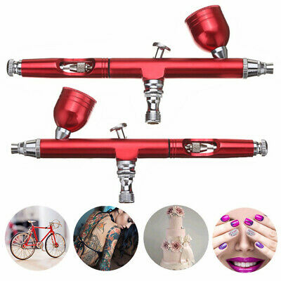 Dual Action Spritzpistole Airbrushpistole Gravity Feed Tattoo Nail Art Paint Rot