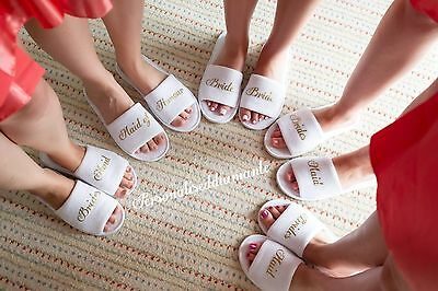 Bride slippers bridal party bridesmaid hen party spa maid of honour gift slipper