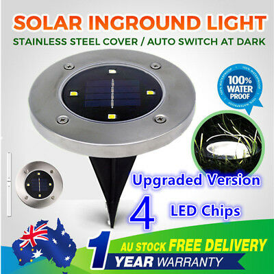 6 x Solar Power LED Buried Inground Recessed Light Garden Outdoor Deck Path *
