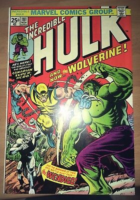 Incredible Hulk #181, 1st full app Wolverine, with coupon, huge key, high grade