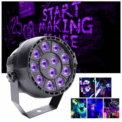 12 LED UV DMX Black Stage Lighting Disco Bar DJ Light Effect Spotlight AU+Remote