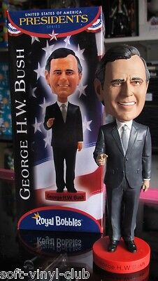 George H.W.Bush Bobblehead BOBBLEHEAD HEADKNOCKER BY ROYAL BOBBLES