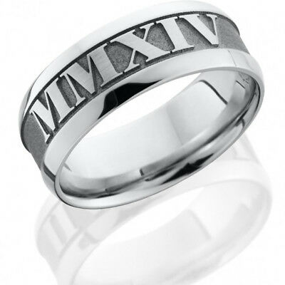 Cobalt Chrome 8mm Flat Band with Wide Beveled Edges