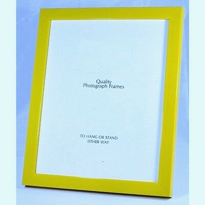 Narrow Bright Yellow/Lemon Picture/Photo Frame - Available in various sizes