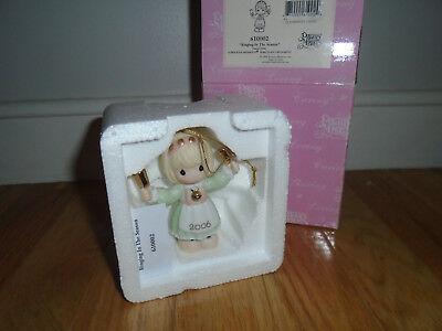 2006 Precious Moments Christmas Ornament RINGING IN THE SEASON Bell #610002