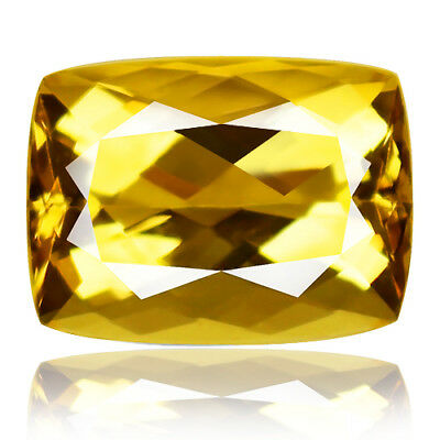 18.62ct flawless 100% Natural earth mined extremely rare aaa golden yellow beryl