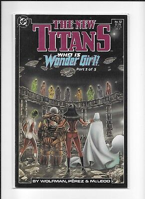 Teen Titans #52 High Grade (9.2) Dc 1989 Perez Wonder Girl