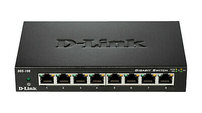 D-LINK 8-Port Layer2 Gigabit Desktop Switch, Schwarz