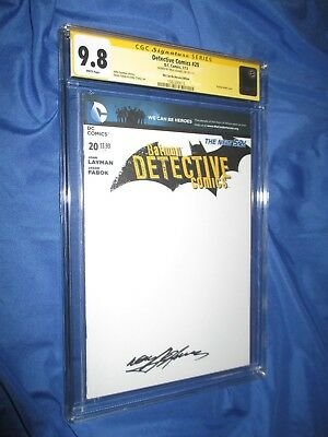 DETECTIVE COMICS #20 CGC 9.8 SS Signed by Neal Adams ~Blank DC Variant BATMAN