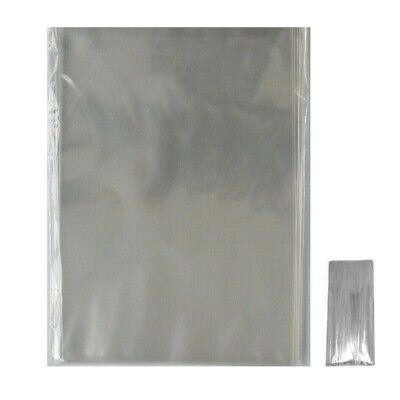 """50 CLEAR 3"""" x 5"""" CELLOPHANE LOLLIPOP BAGS / DISPLAY BAGS NO LIP WITH FREE TIES"""