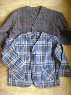 2 VINTAGE Boys Plaid Tartan Long Sleeve Pockets Button Jackets Blazers Size 2T