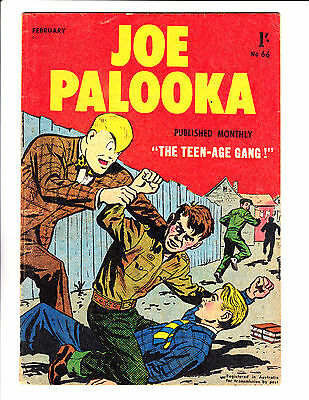 "Joe Palooka No 66 1958 - Austrailian-""The Teen-Age Gang Cover ! """