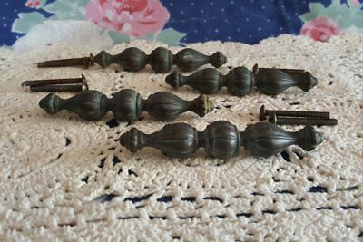 Rubbed Brass Drawer Pulls by Keeler Brass Co KBC with Bubble or Pillow Design