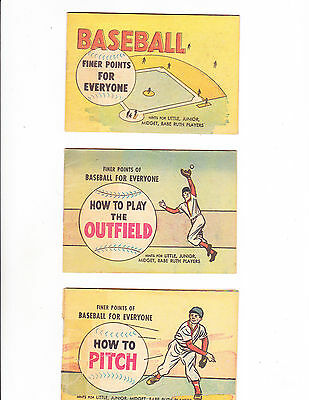 Finer Points For Everyone!  Set Of 10 Baseball Giveaways  1959   : Not Listed :