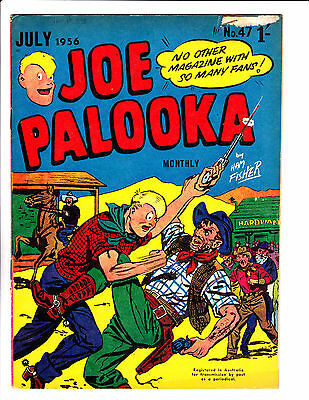 "Joe Palooka No 47 1956 - Austrailian-""Old West Fight  Cover ! """