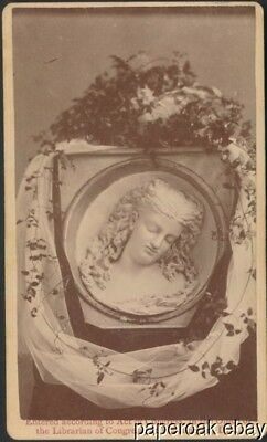 Original Carte De Visite Photo Of Carved Butter Portrait At 1876 Centennial Expo