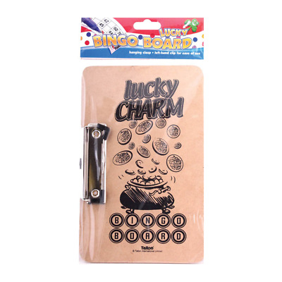 Lucky Bingo Board With Clasp Clip Left Hand Clip 24cm x 15cm Approx(7104)