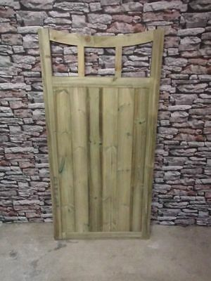 6FT H Half Moon Slatted Top Wooden Driveway Gates BUYING TOTAL WIDTH Tall