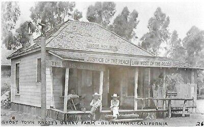 Jersey Lilly Judge Roy Bean~Ghost Town~Knott's Berry Farm~Buena Park Ca~RPPC  x