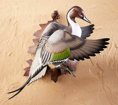 Wild Wings Flying Pintail Duck Wall Mount Decoy Sculpture Sam Nottleman Lodge