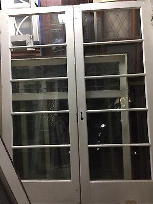 "Old 1920's Thin French Doors 78-1-2"" X 30 ""ea Door 60"" Total Open"