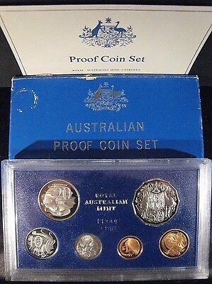 1983 Australia 6 Coin Proof Set with Box & COA       ** FREE U.S. SHIPPING **