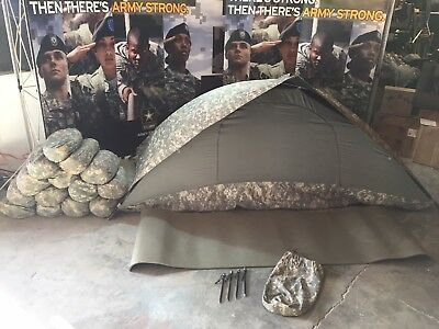 Military ICS ORC Improved Combat Shelter One Man Tent ACU w/Stakes & Sleep Mat