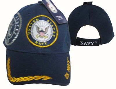 U.S. Navy Seal Crest Feather Eggs Shadow Blue Embroidered Cap Hat CAP602B TOPW