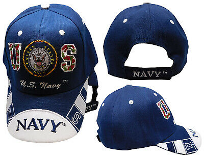 U.S. Navy Seal Crest Insignia on Bill Blue Embroidered Cap Hat CAP602E TOPW