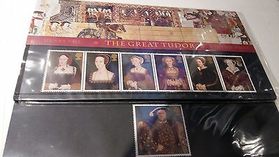 Henry VIII 7-stamp Presentation Pack Great Britain Mint condition