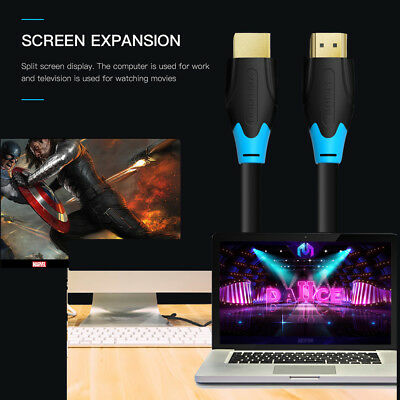 Flexible HDTV HDMI Male to Male Cable V2.0 3D 4K 1080P HDTV Adapter Cord J7L