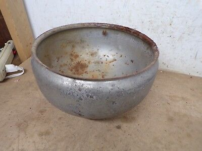 Rustic Old Cream Separator Bowl for flower pot garden planter