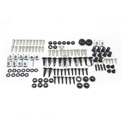 109Pcs Fairing Bolt Kit Body Work Screws For Suzuki GSX-R 600 750 06 2007 CD BK