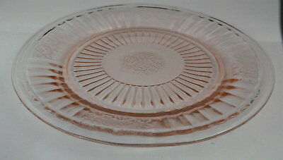 "Mayfair ""open Rose"" Pink Round Sherbet Plate-----Hocking Glass Company"