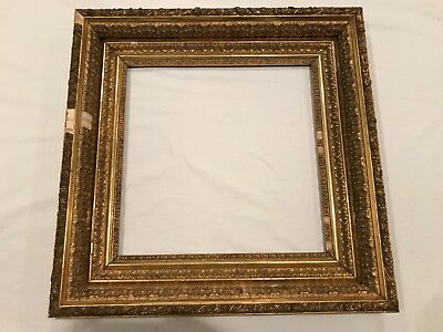 Antique 18x18 Square 19th Century Gold Gilt American Picture Frame