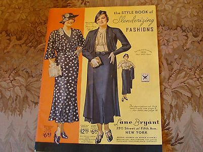 Vintage Womens Fashion Catalog LANE BRYANT Spring Summer 1935